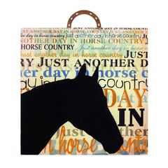 HORSE COUNTRY GLASS PLAQUE