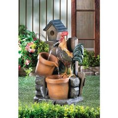 Country Rooster Water Fountain