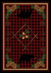 Deep Woods Rug- Rectangle - 8x11 - Red
