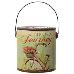 Life is a Journey Country Wildflowers Candle