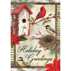RUSTIC GARDEN HOLIDAY FLAG