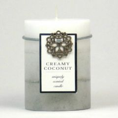 Creamy Coconut Pillar Candle - 4-inch