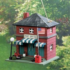 Wood Post Office Bird House
