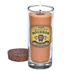 Bottle Candle with Cork Lid - Honey Bourbon