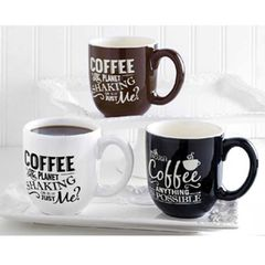 Assorted Coffee Sayings Coffee Mugs