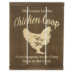 Chicken Coop Slat Sign