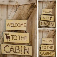 Welcome to the Cabin Hanging Sign