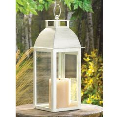 Distressed Candle Lantern - 12.5 inches