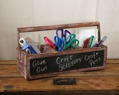 WOODEN TOOL BOX PLANTER