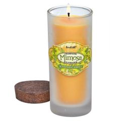 Bottle Candle with Cork Lid - Mimosa