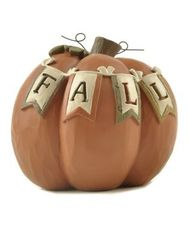 FALL' BANNER ON PUMPKIN