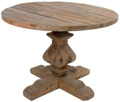 Reclaimed wood round table natural