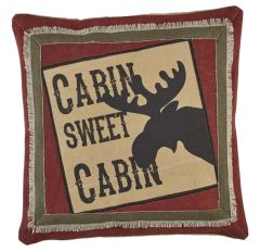Cabin Moose Pillow