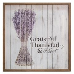 Grateful Framed Shiplap Sign, 15""