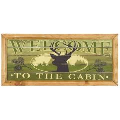 Welcome to the cabin wall art