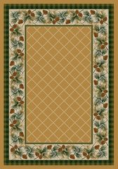 Evergreen Rug- Rectangle - 8x11 - Light Maize