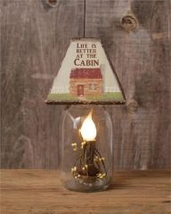 Electric Jar Light- Life Is Better/Cabin