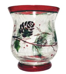 VOTIVE HOLDER-WOODLAND WINTERBERRIES