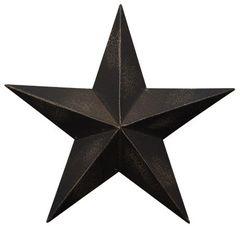 "Antique Black Barn Star - 8"""
