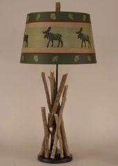 Stick T-Lamp w/Black Base