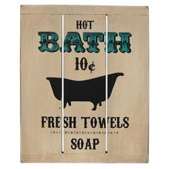 Hot Bath Slat Sign