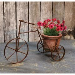 """Tricycle w/Terracotta Planter, 13"""""""