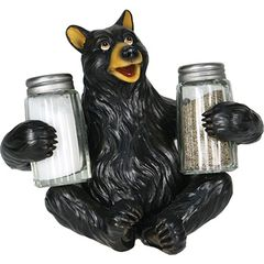 Bear Holding Salt & Pepper Shaker