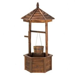Rustic Country Wishing Well Planter