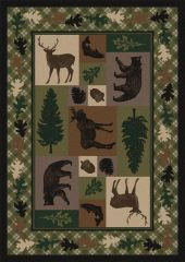 Wildlife Retreat Rug- Rectangle - 8x11 - Multi