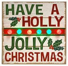 HOLLY JOLLY CHRISTMAS' LED WALL SIGN