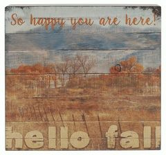 'HELLO FALL' WALL BOX SIGN