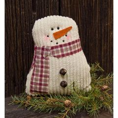 """Tea-Stained Snowman, 7-1/2"""""""