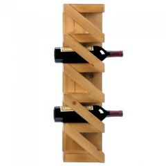 Wood Zig-Zag Wall-Mounted Wine Rack