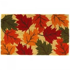 Autumn Leaves Coir Welcome Mat