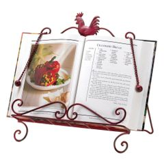 Country Red Rooster Cookbook Stand