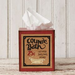 Tissue Box Cover - Country Bath