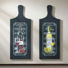 Wine Bottle Wall Art Pair