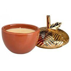Ceramic Acorn Scented Candle - Pumpkin Souffle