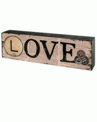 LOVE' WOOD SIGN
