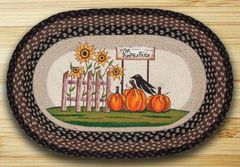 Pumpkin Patch Sunflower 20x30 Oval Rug
