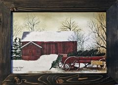 Christmas Wagon Wall Art
