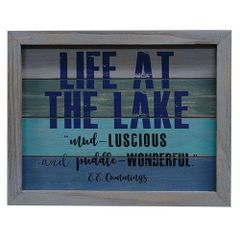 Life at the Lake Framed Sign