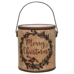 Merry Christmas Crock w/Handle