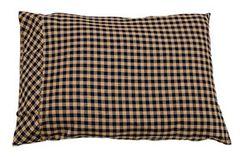 Navy Check Pillow Case, 2/set