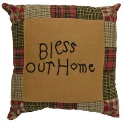 Tea Cabin Bless Our Home Pillow