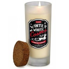 Bottle Candle with Cork Lid - Winter White Cosmo