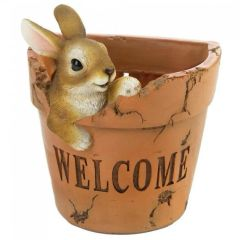 Playful Bunny Welcome Planter