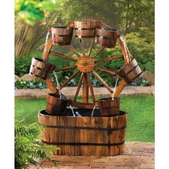 Country Wagon Wheel Water Fountain