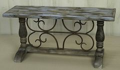 Faux Patinated Display Bench