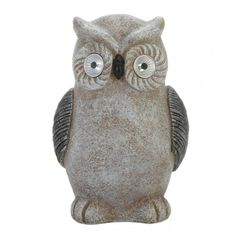 Owl Garden Statue with Solar Light-Up Eyes